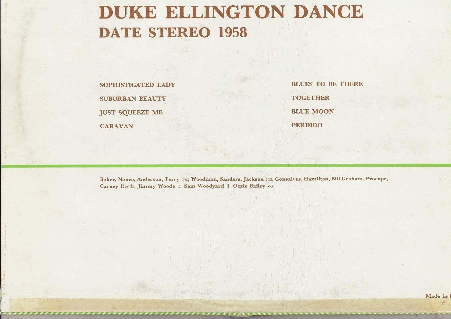 Duke Ellington Dance Date Air Force U.S.A. March 1958